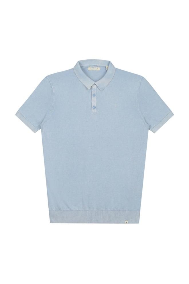 Dstrezzed acid jersey fine gauge polo blauw - Dstrezzed