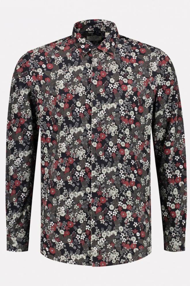 Dstrezzed bloemen overhemd zwart - Dstrezzed