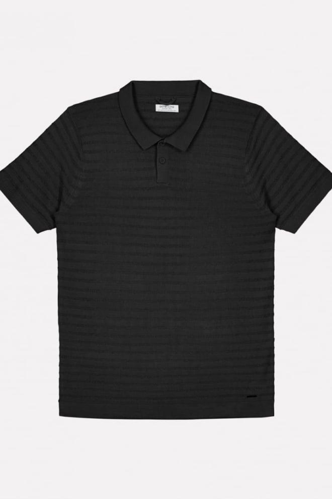 Dstrezzed boucle stripe polo zwart - Dstrezzed