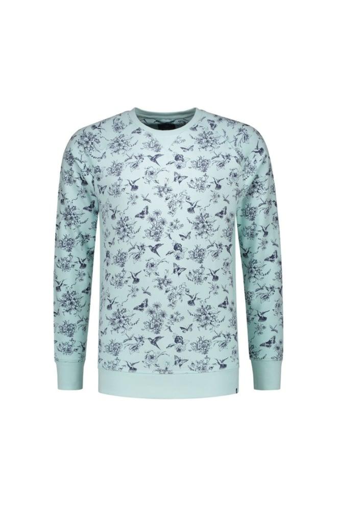 Dstrezzed crew botanic sweater groen - Dstrezzed
