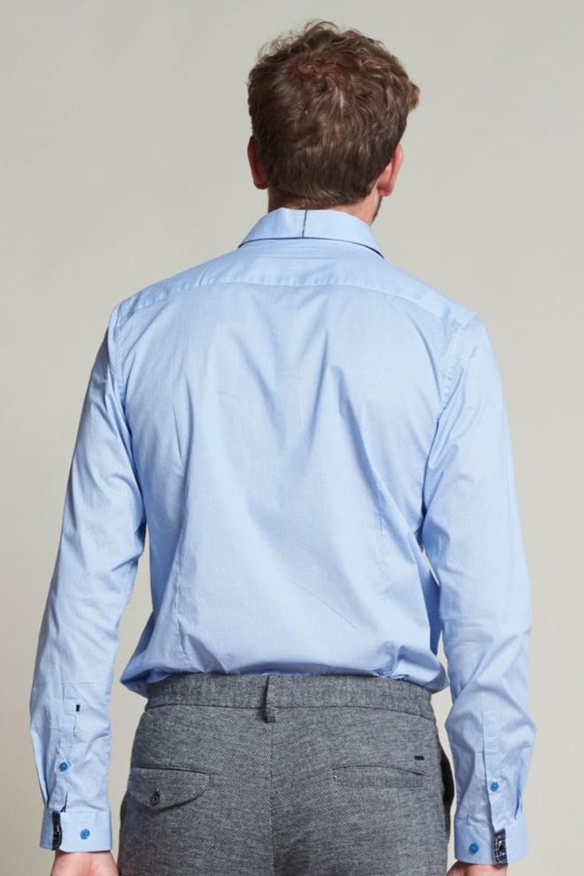 Dstrezzed fancy poplin overhemd lichtblauw - Dstrezzed