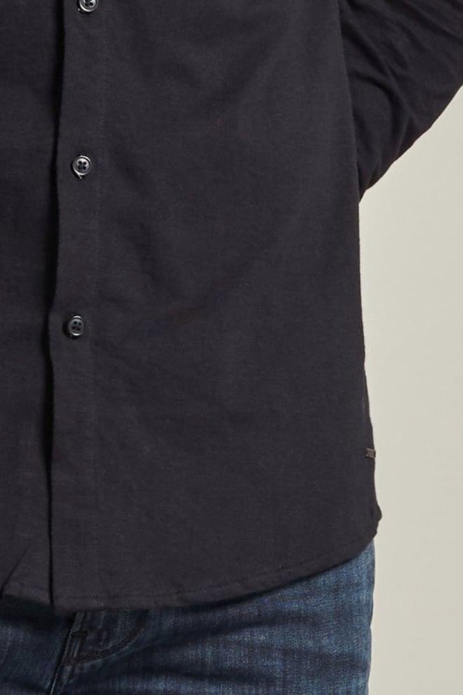 Dstrezzed gebreid jersey overhemd zwart - Dstrezzed