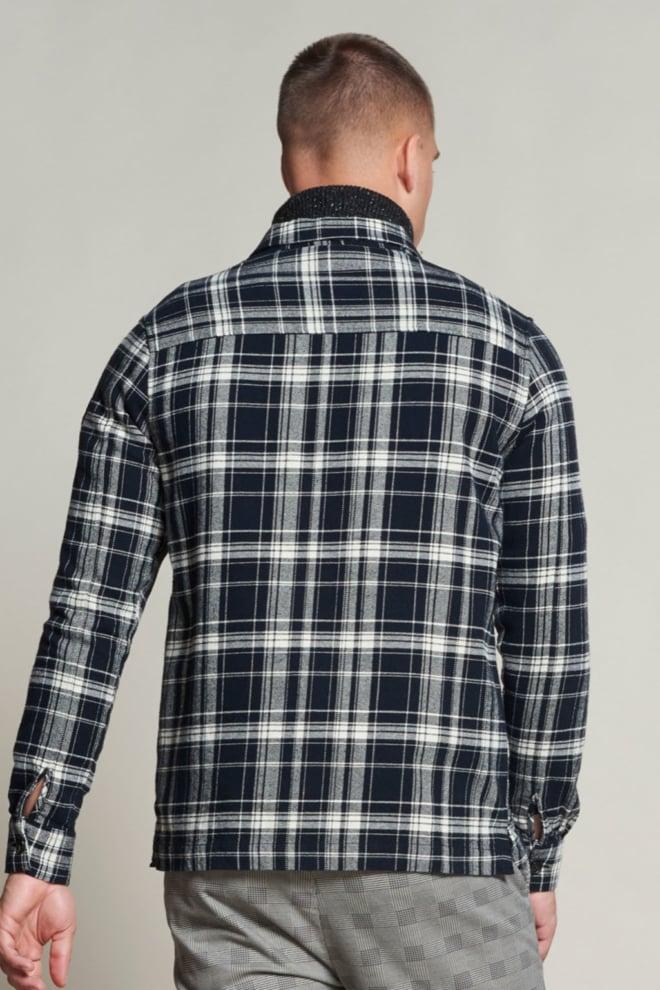 Dstrezzed heavy flannel jack zwart/wit geruit - Dstrezzed
