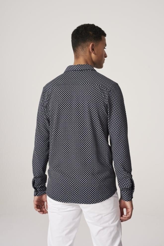 Dstrezzed printed melange jersey blouse blauw - Dstrezzed