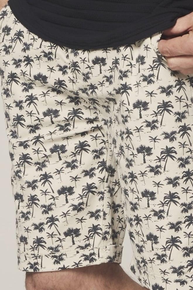 Dstrezzed palmbomen chino short beige - Dstrezzed