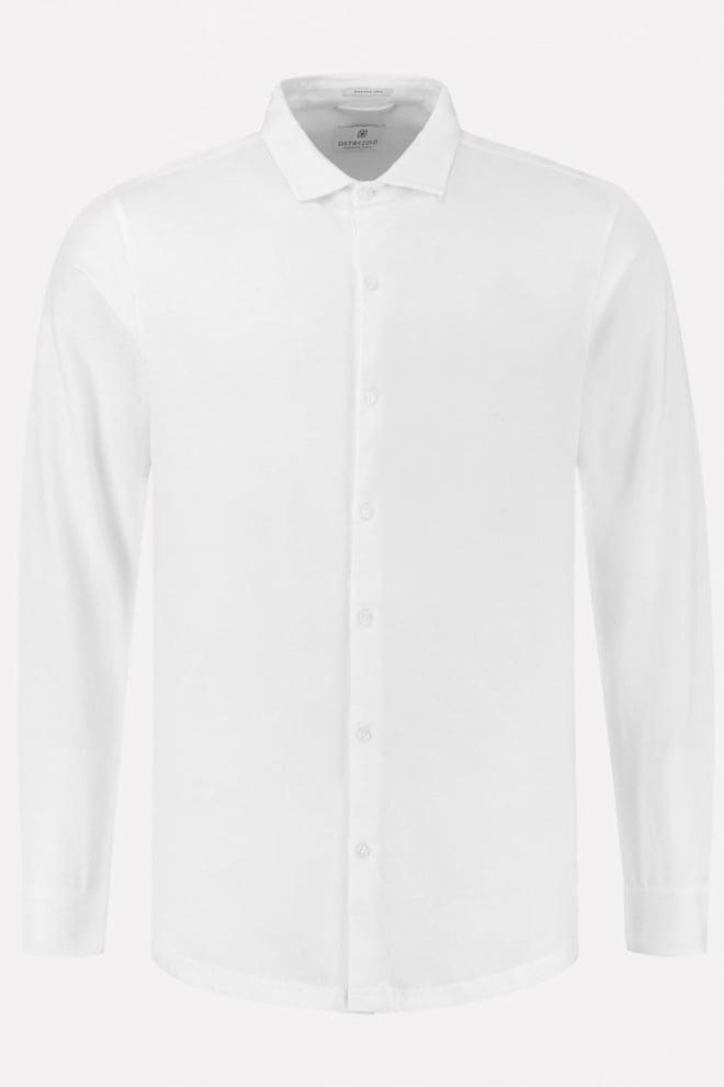 Dstrezzed peached single jersey overhemd wit - Dstrezzed
