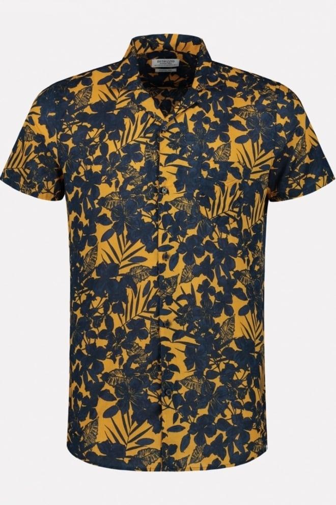 Dstrezzed resort overhemd oranje/zwart - Dstrezzed
