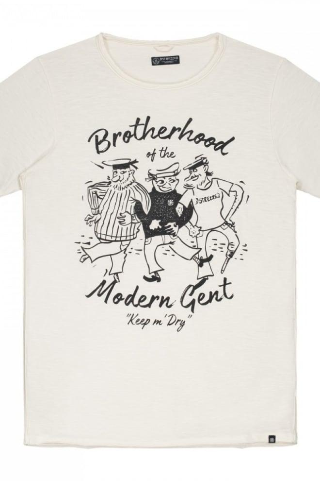 Dstrezzed round neck cartoon print slub jersey t-shirt wit - Dstrezzed