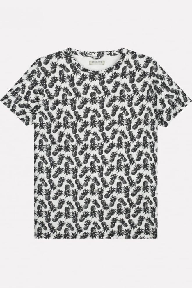 Dstrezzed pineapple t-shirt wit - Dstrezzed