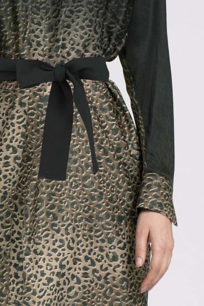 Fifth house raze jurk leopard print beige - Fifth House