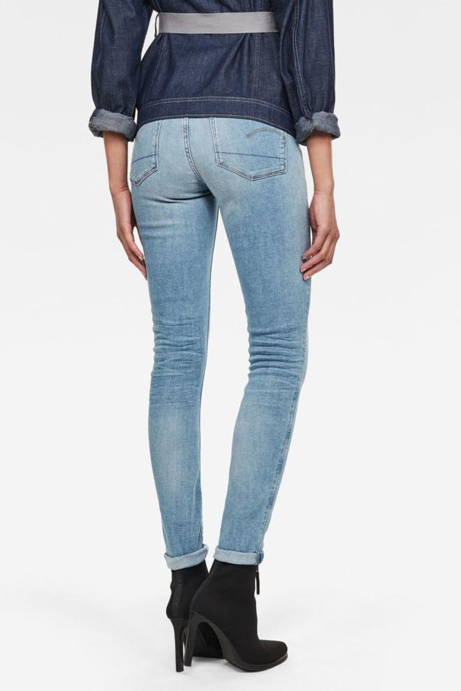 G-star 3301 high skinny jeans blauw - G-star Raw