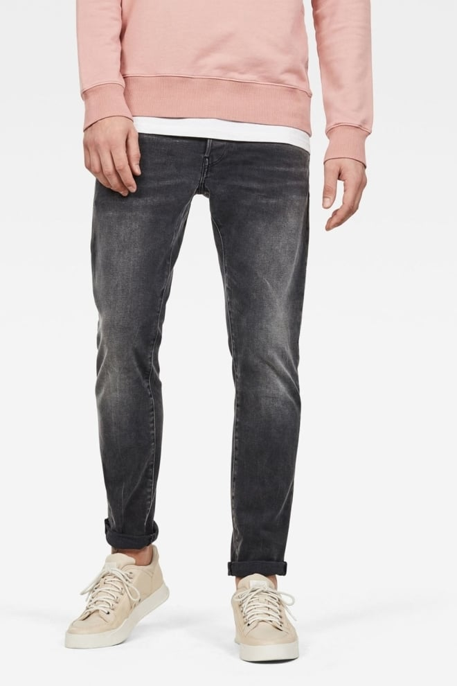 G-star raw 3301 slim jeans donkergrijs - G-star Raw