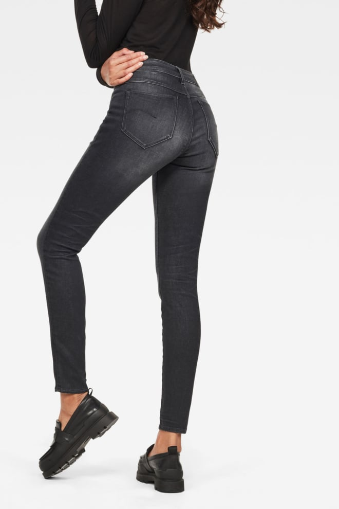 G-star raw shape high super skinny dark grey - G-star Raw