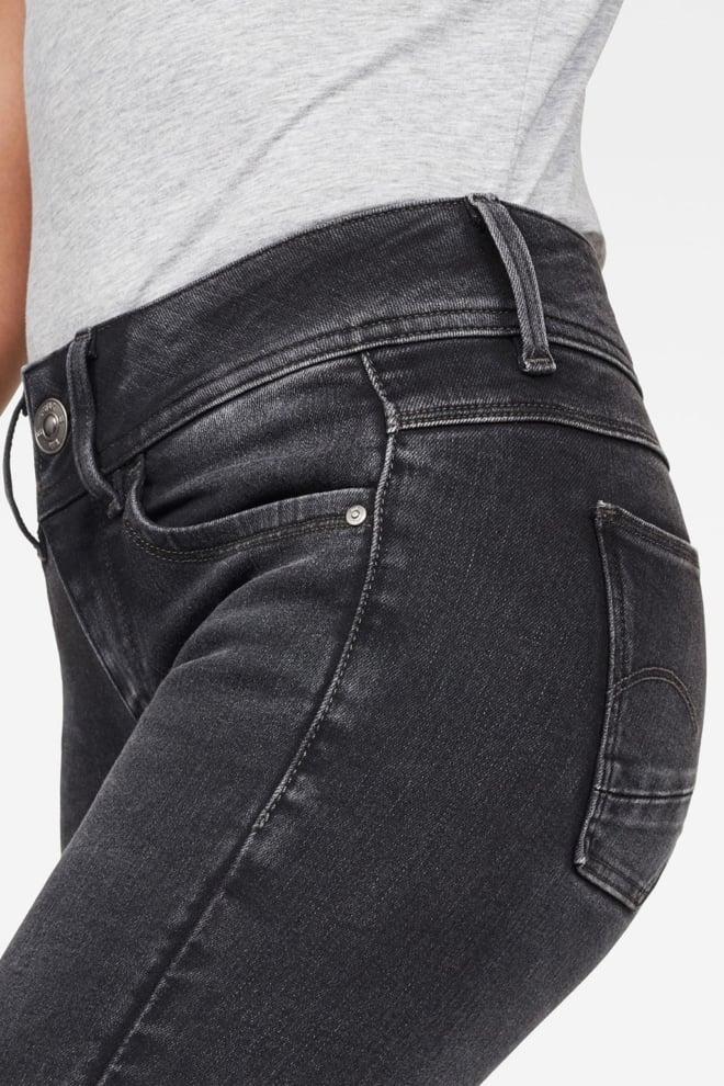 G-star raw lynn mid super skinny jeans donkergrijs - G-star Raw