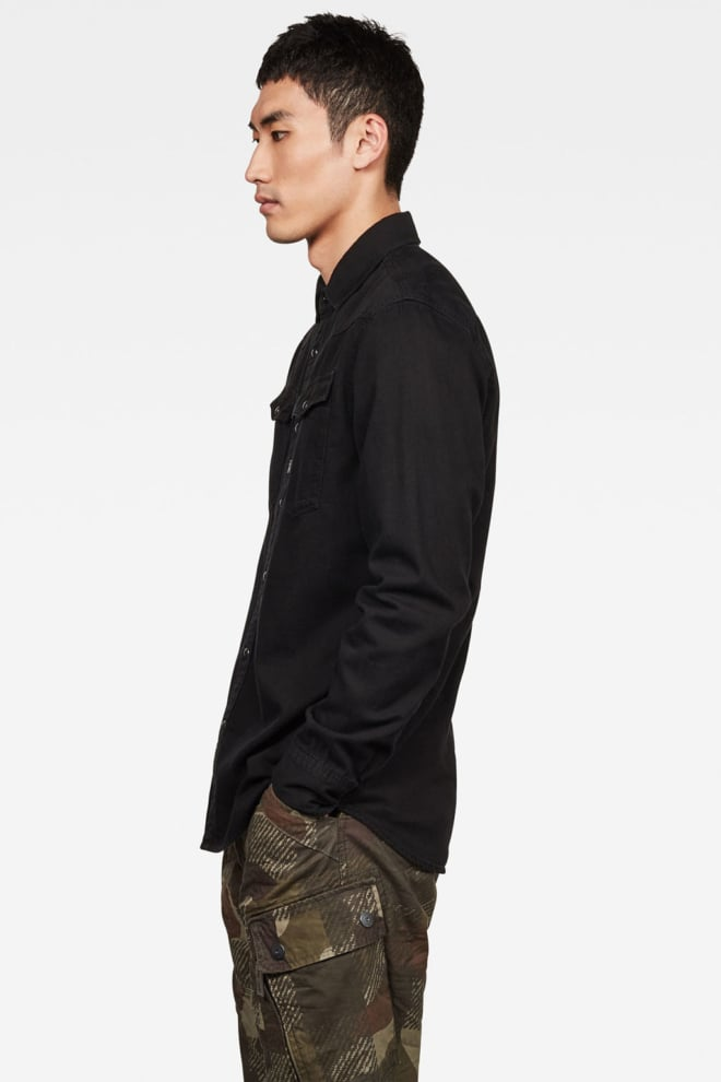 G-star raw denim overhemd zwart - G-star Raw