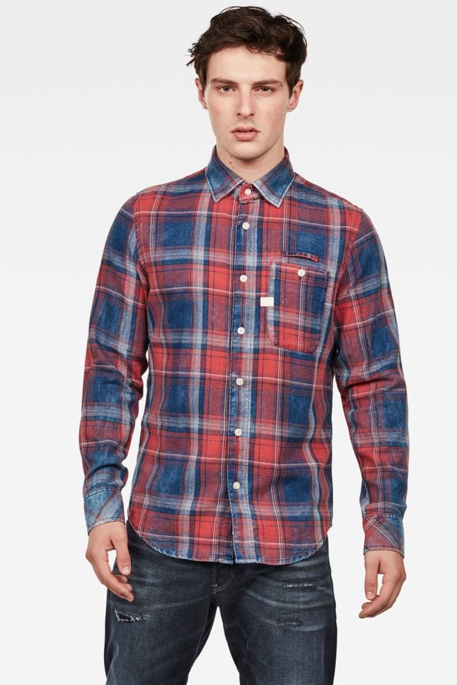 G-star raw bristum overhemd rood/blauw geruit - G-star Raw