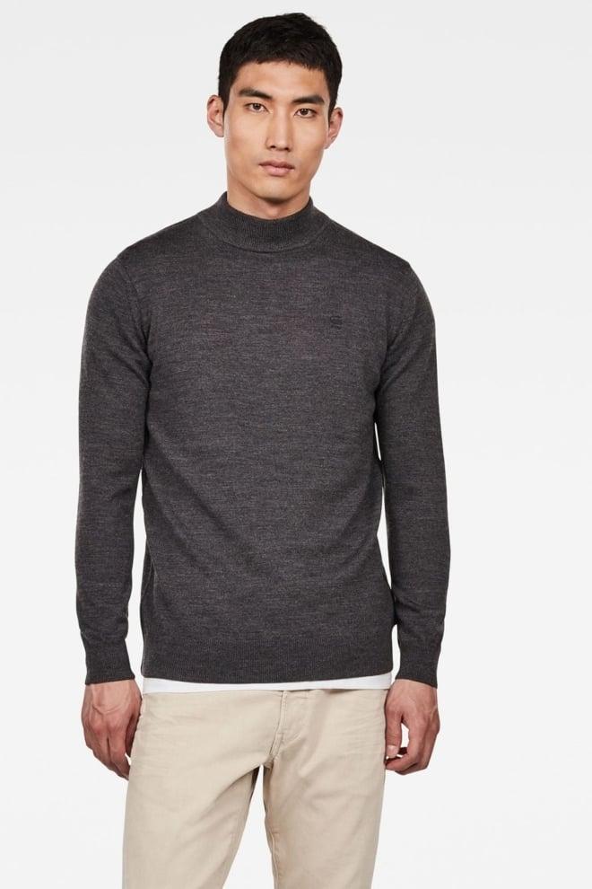 G-star raw core mock turtle knit grijs - G-star Raw