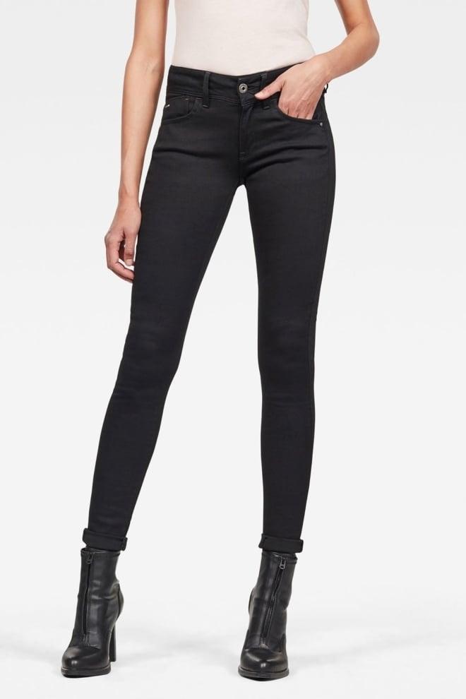 G-star raw lynn mid skinny jeans zwart - G-star Raw