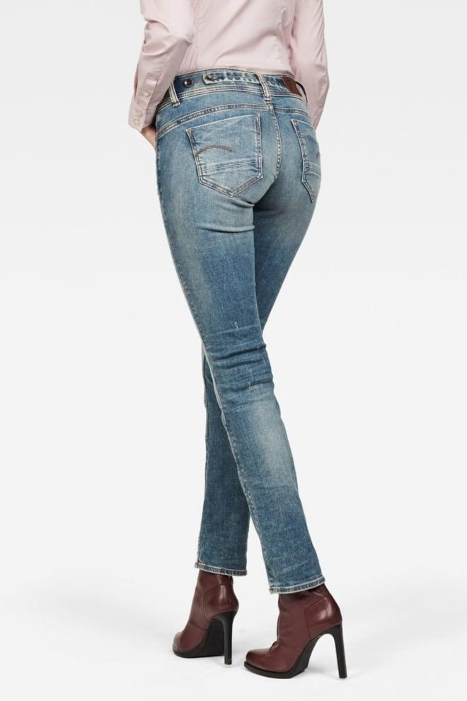 G-star midge straight jeans vintage blauw - G-star Raw