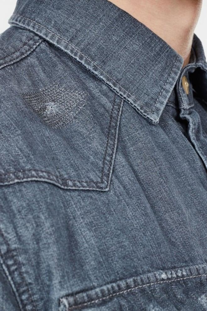G-star raw slim fit overhemd denim - G-star Raw