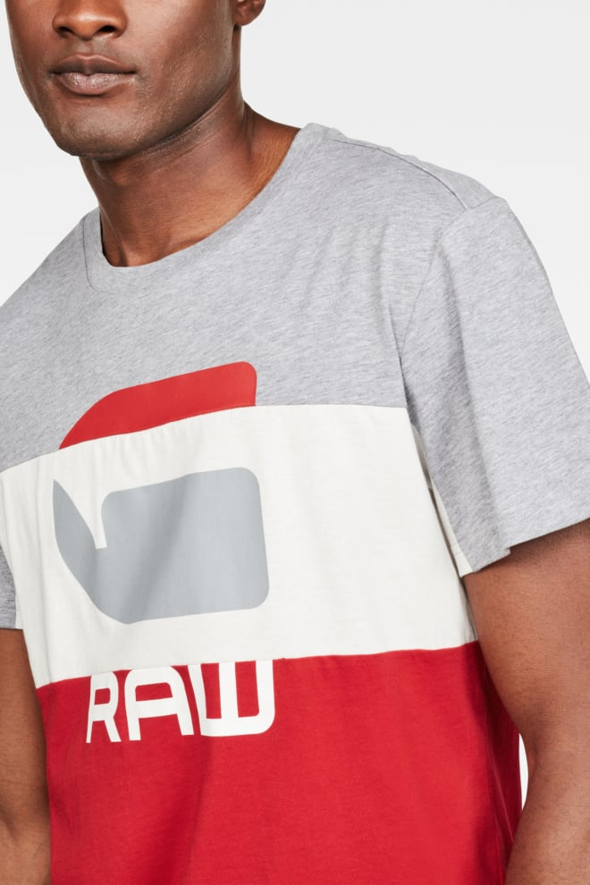 G-star graphic 41 shirt rood/wit - G-star Raw