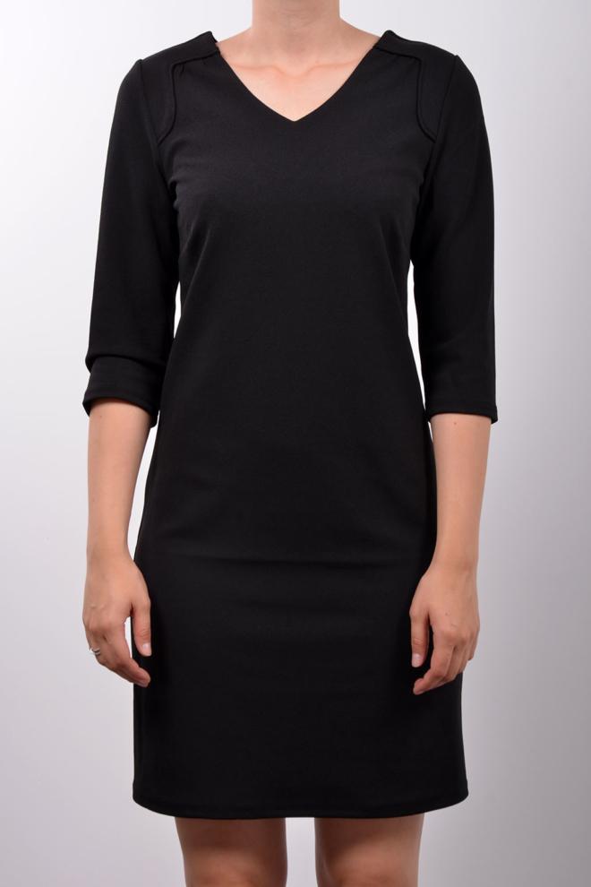 Geisha 3/4 sleeve jurk zwart - Geisha