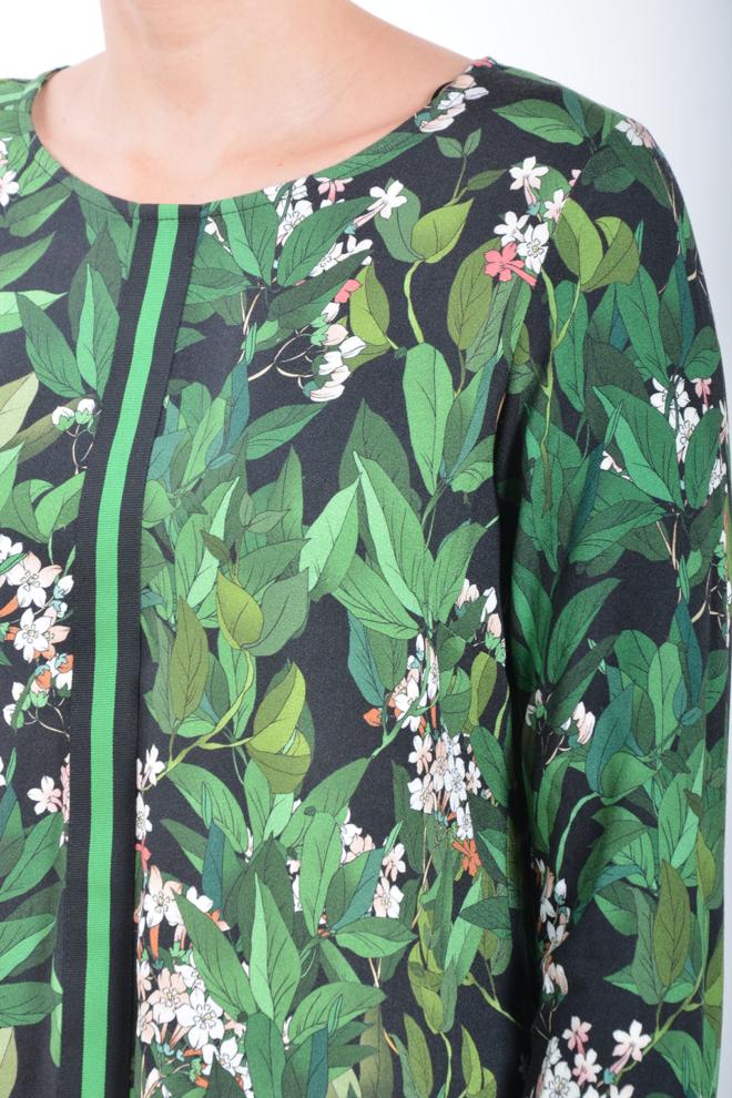 Geisha long sleeve black/green - Geisha