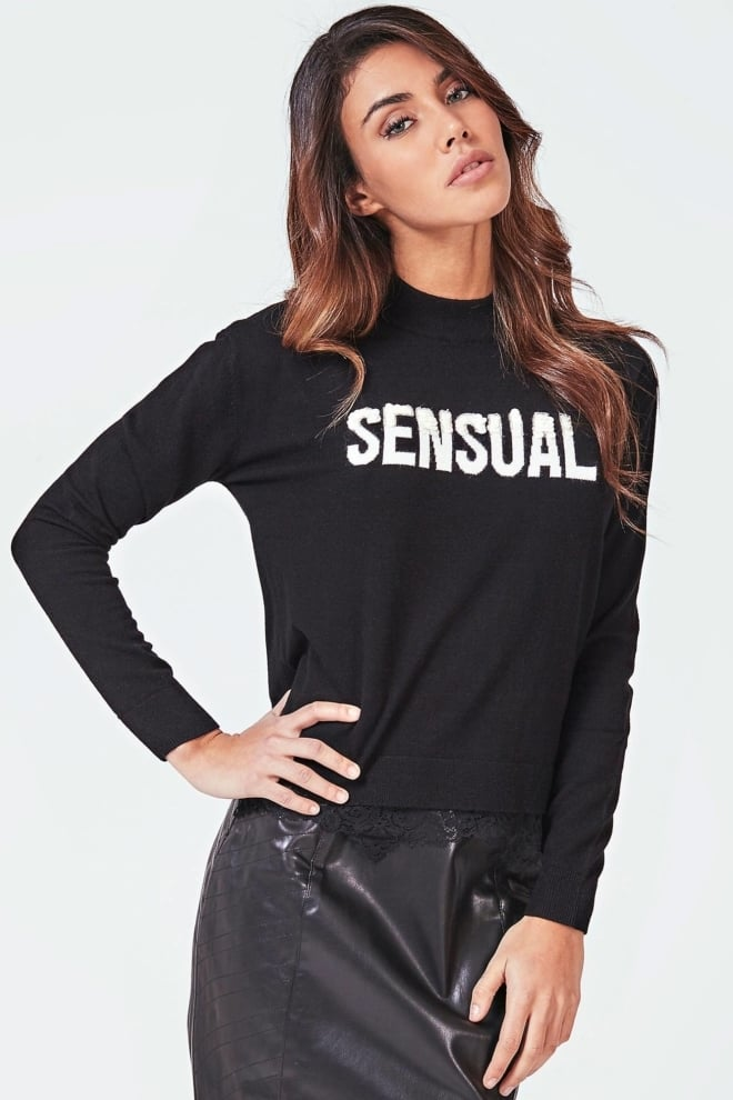 Guess addy sweater black - Guess