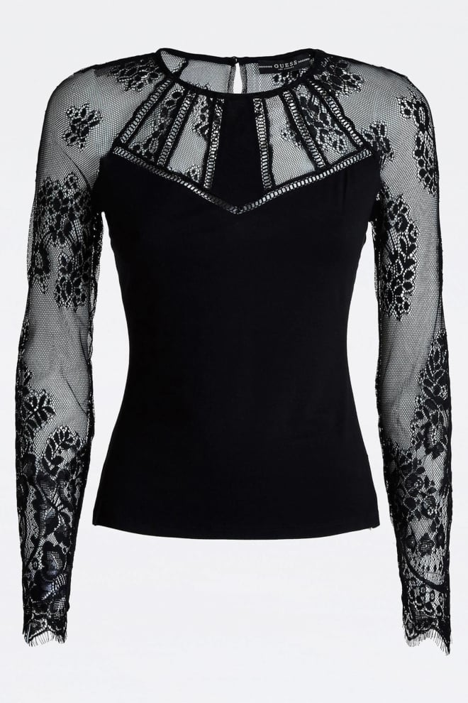 Guess alina t-shirt zwart - Guess