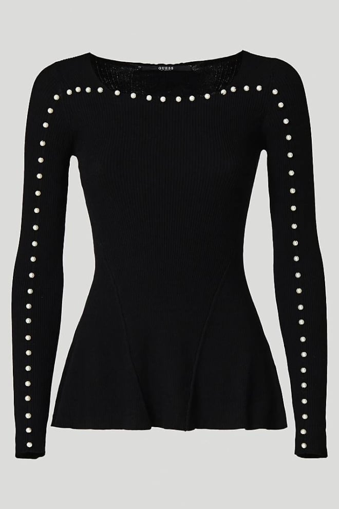 Guess april sweater jet black - Guess