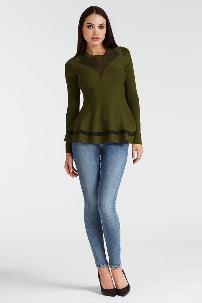 Guess becca sweater dark pine - Guess