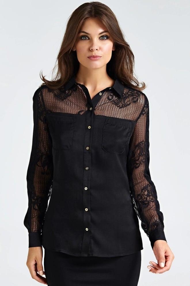 Guess carla shirt black - Guess