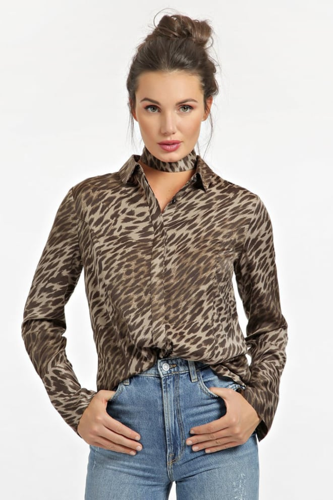 guess chocker print blouse - Guess