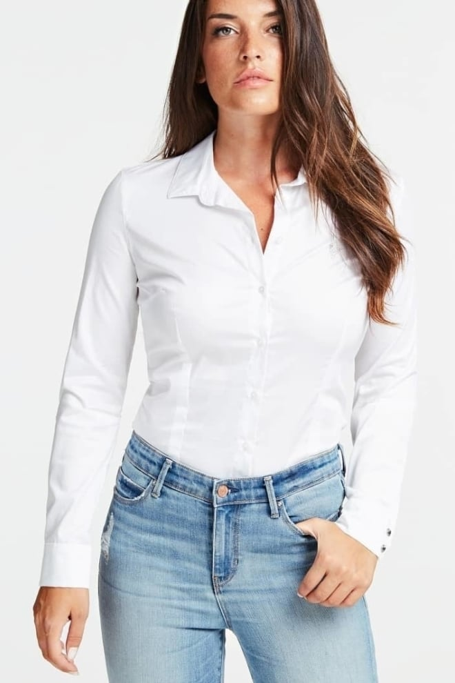 Guess cate blouse wit - Guess
