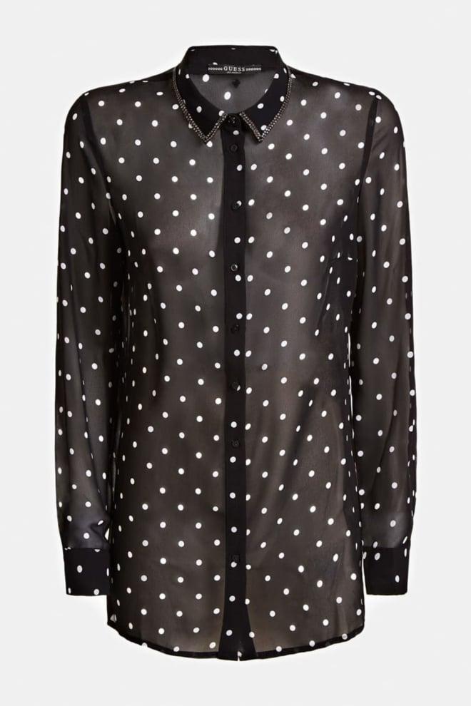 Guess clouis blouse zwart - Guess