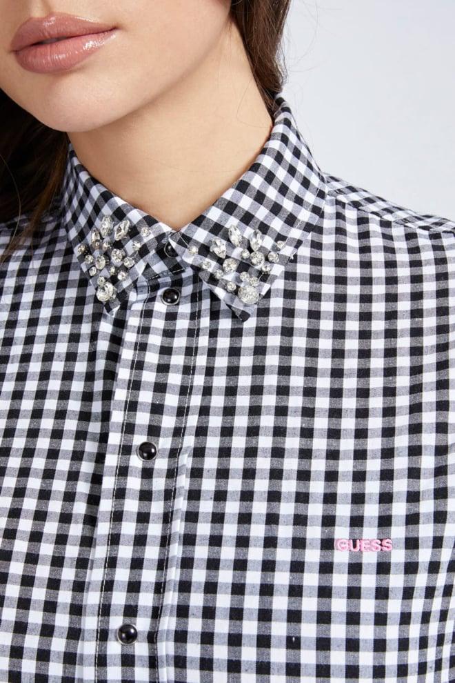 Guess daphne blouse zwart/wit - Guess