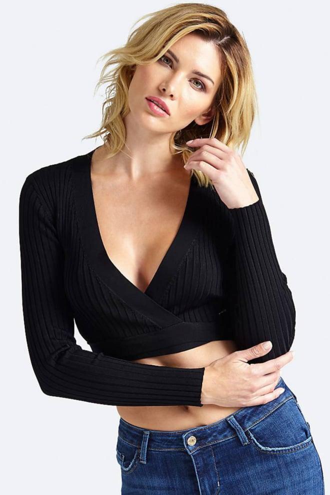 Guess debora crop sweater zwart - Guess