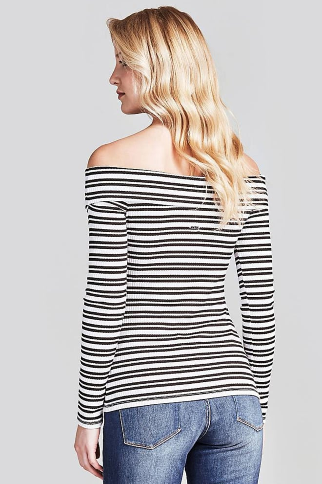 Guess emiliane top zwart/wit - Guess
