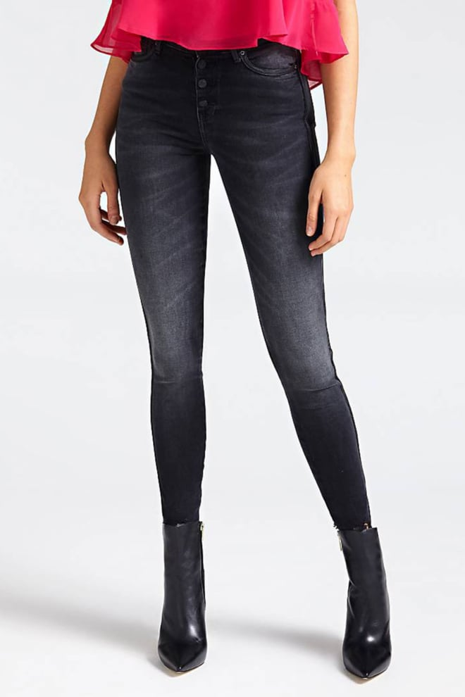 Guess exposed button jeans donkergrijs - Guess