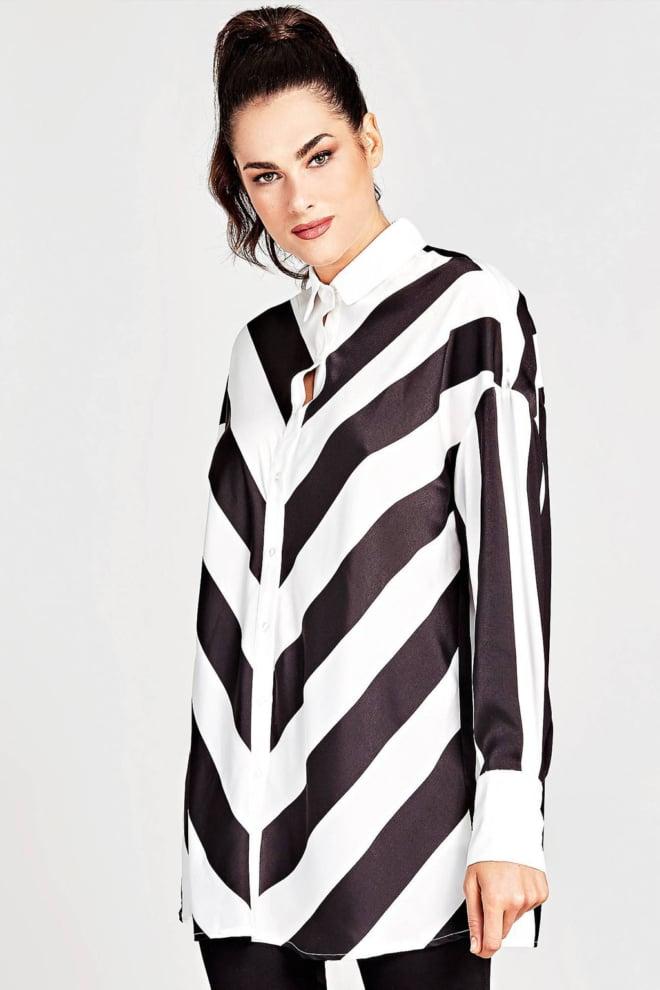 Guess liliana blouse zwart/wit - Guess