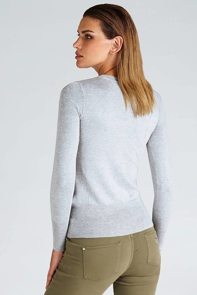 Guess logo detail sweater grey - Guess