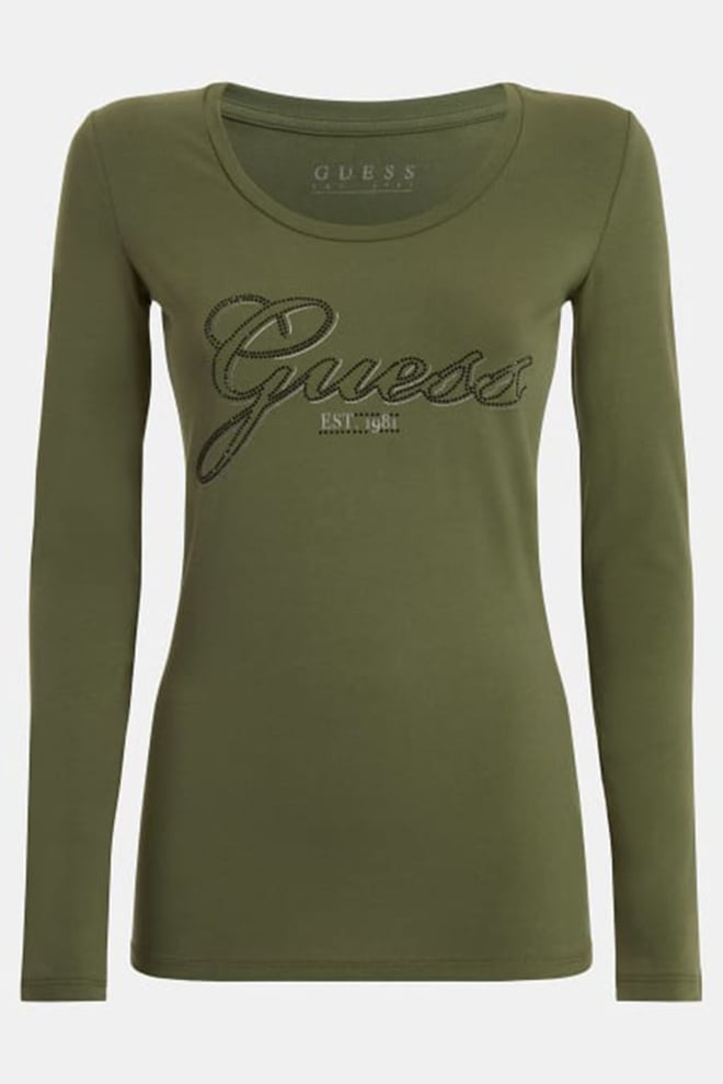Guess t-shirt logo groen - Guess
