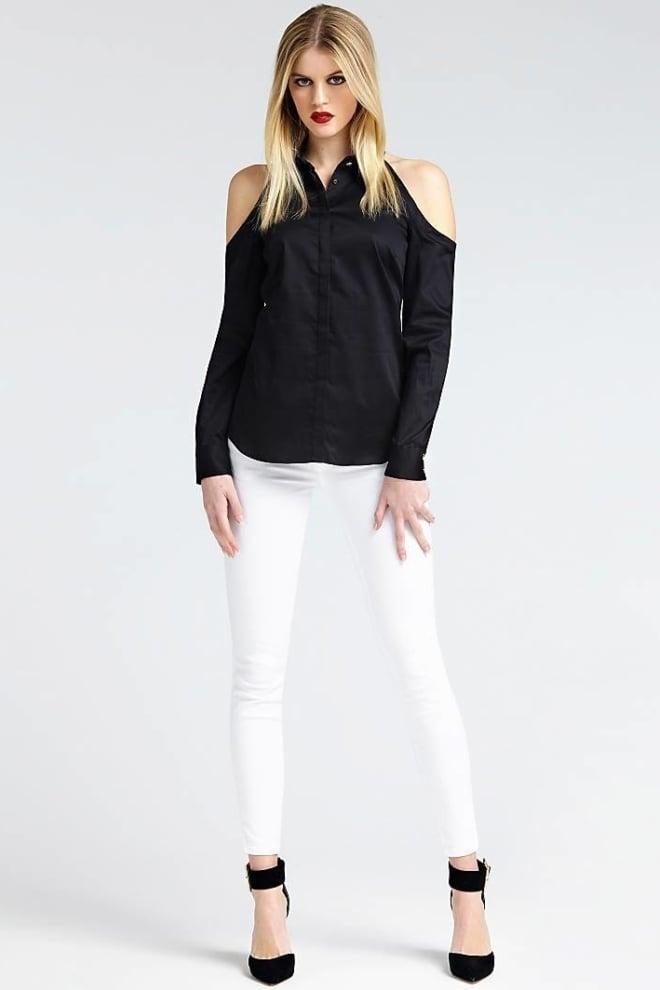 Guess piera blouse zwart - Guess