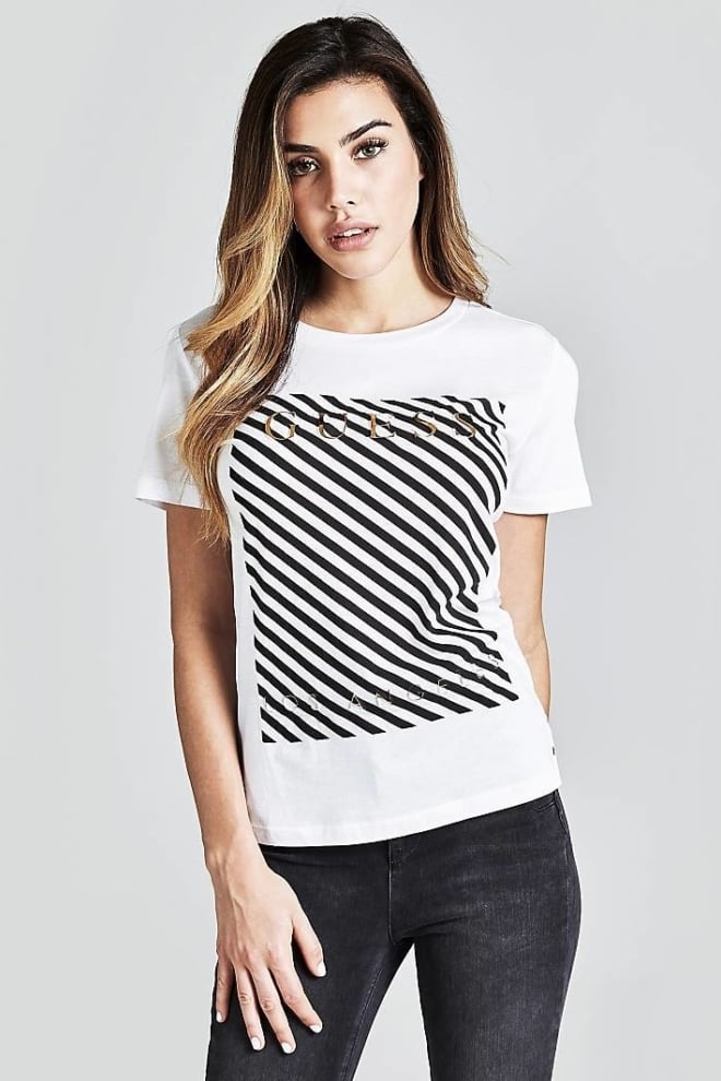 Guess t-shirt met print wit - Guess