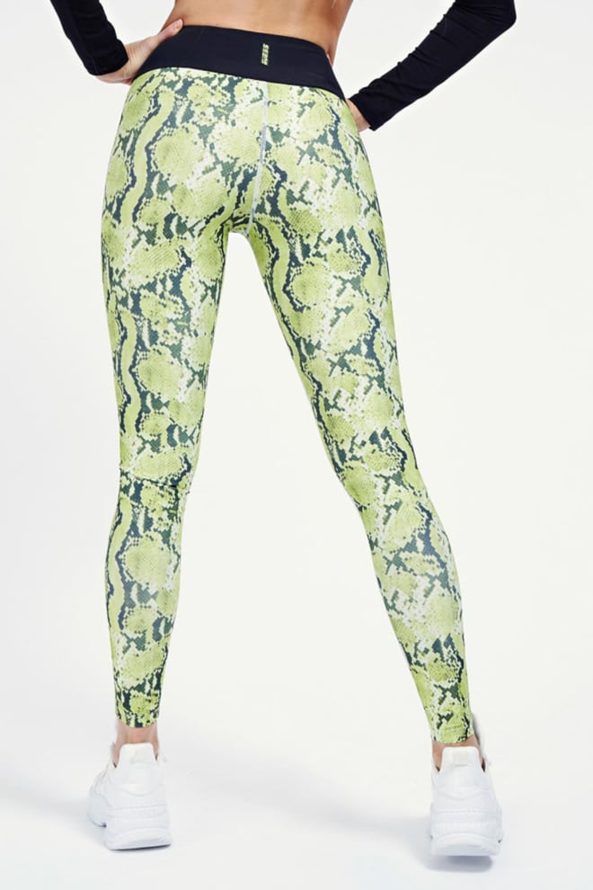 Guess sport legging all-over print neon green - Guess