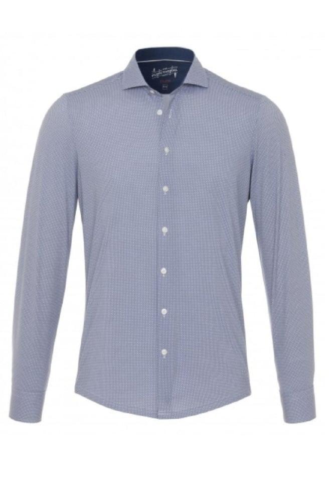Pure-hatico overhemd blauw geprint - Pure-hatico