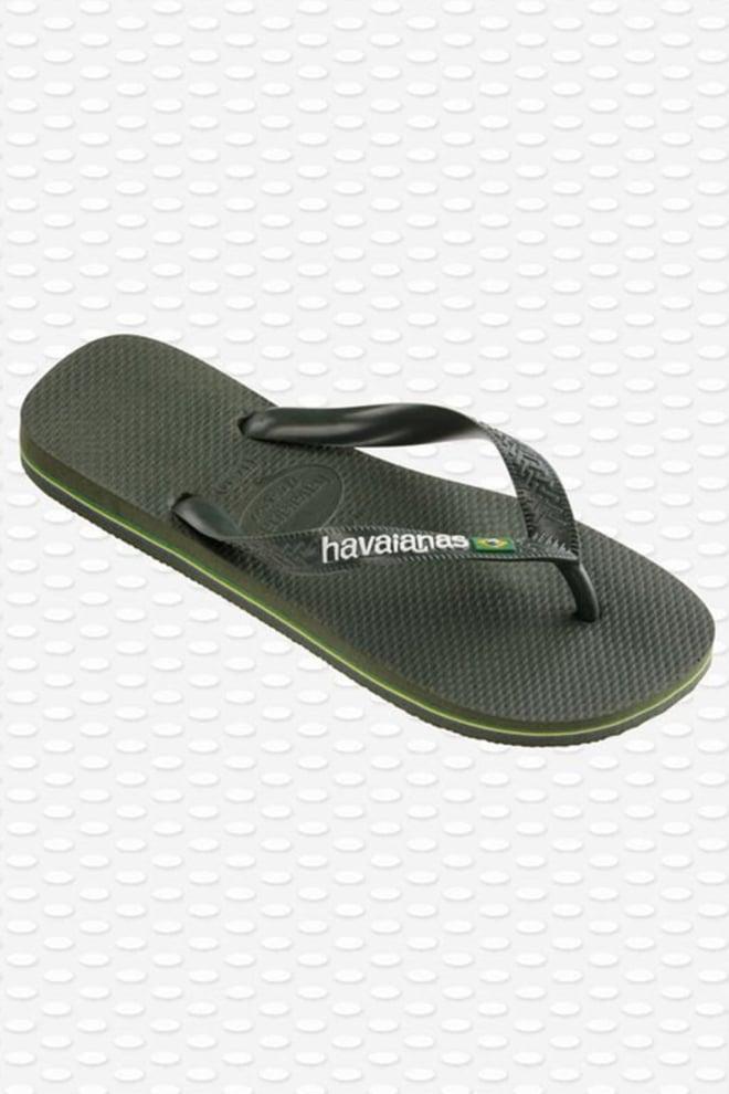 Havaianas brasil logo slippers groen - Havaianas