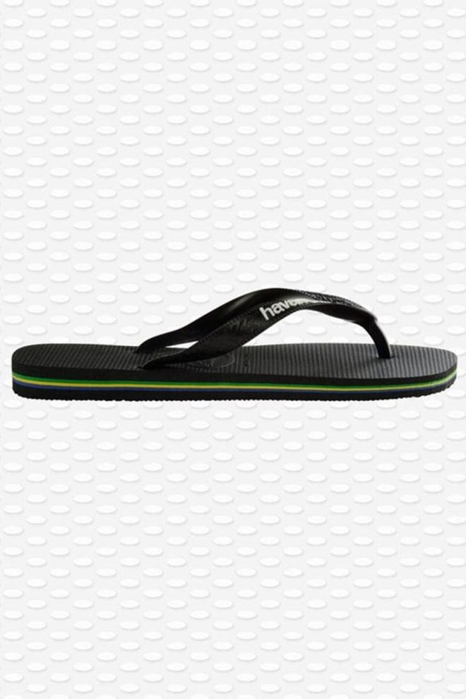 Havaianas brasil logo slippers zwart - Havaianas