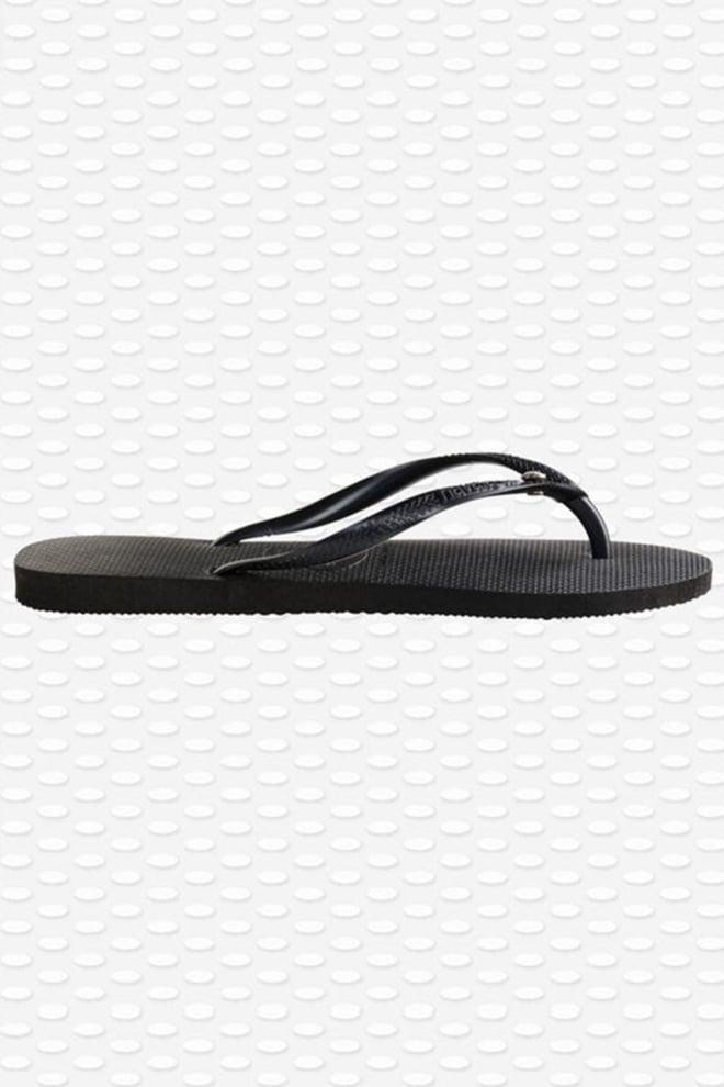 Havaianas slim crystal glamour slipper zwart - Havaianas