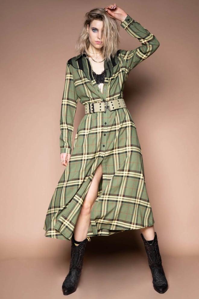 Iconic27 cowboy dress groen - Iconic 27
